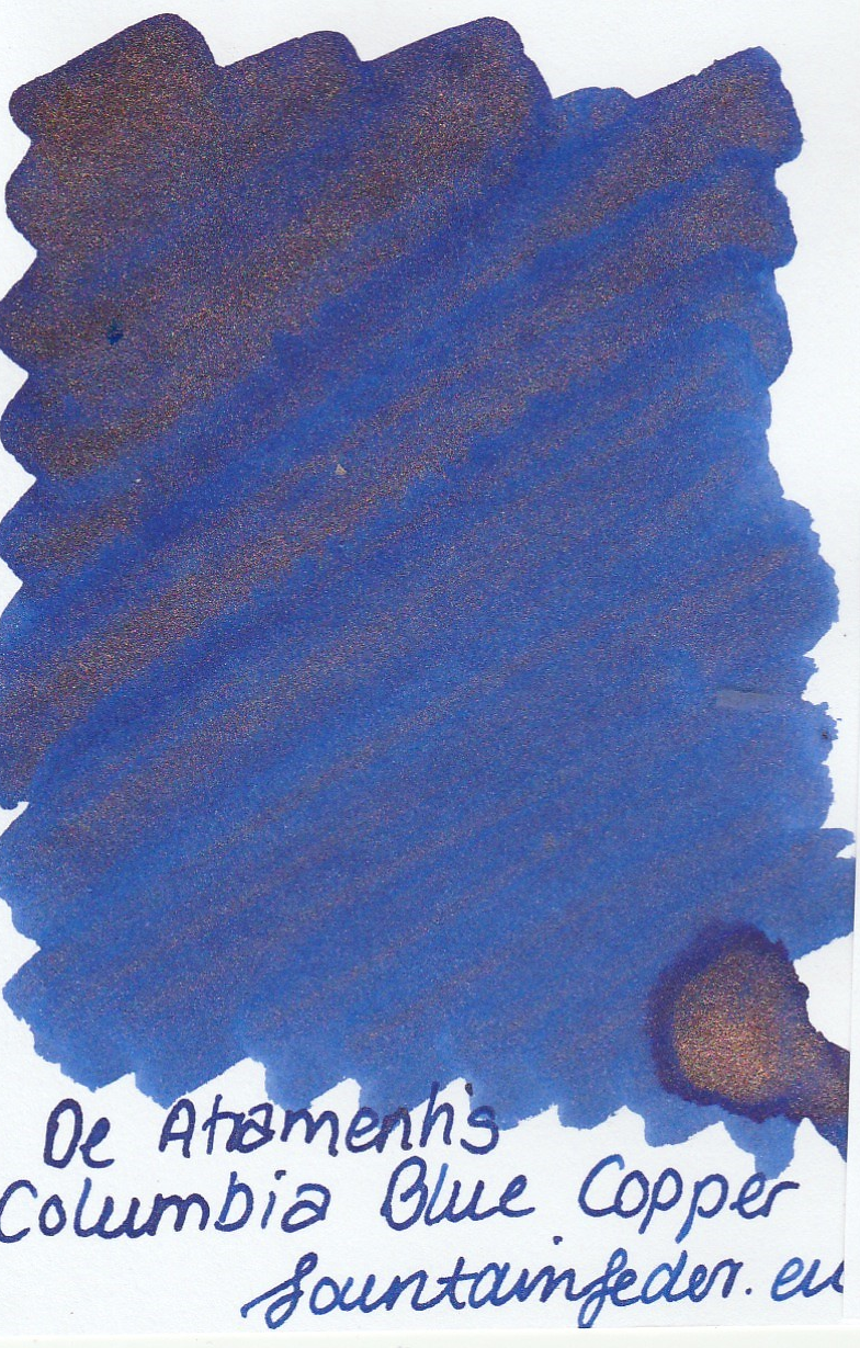 DeAtramentis Columbia Blue - Copper Sample 2ml