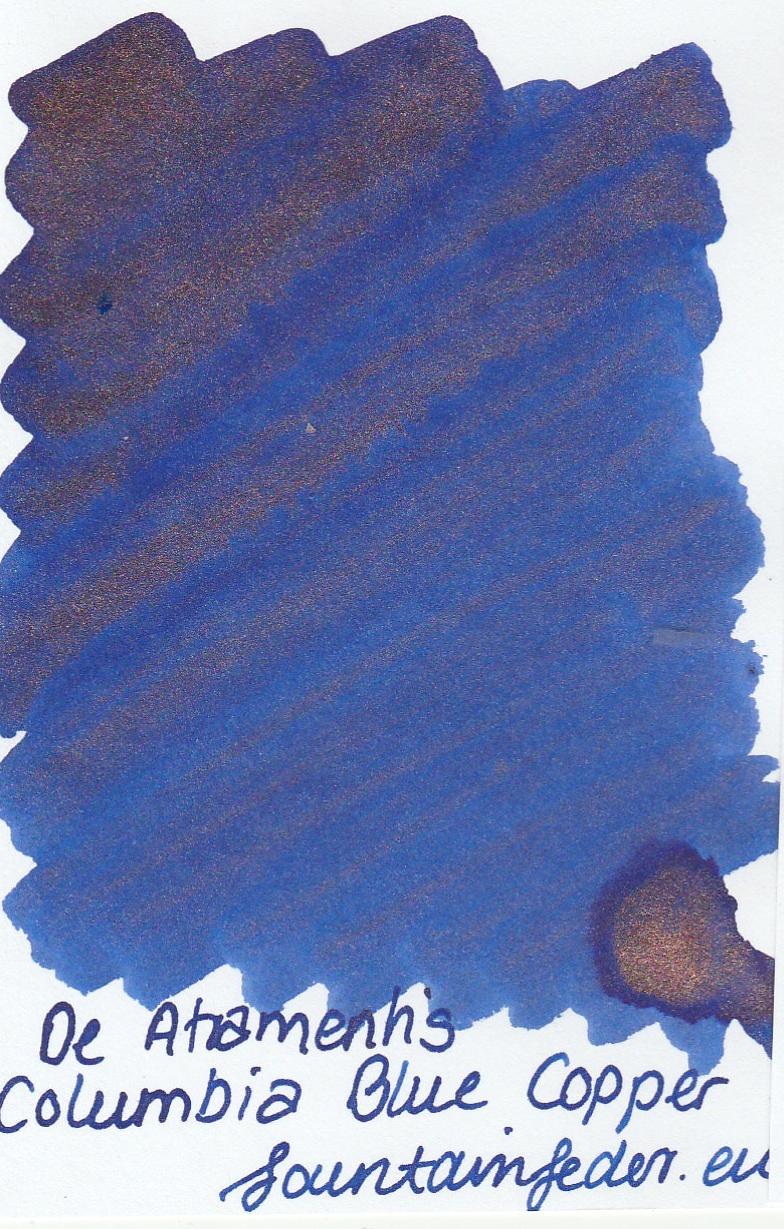 DeAtramentis Columbia Blue - Copper Sample 2ml