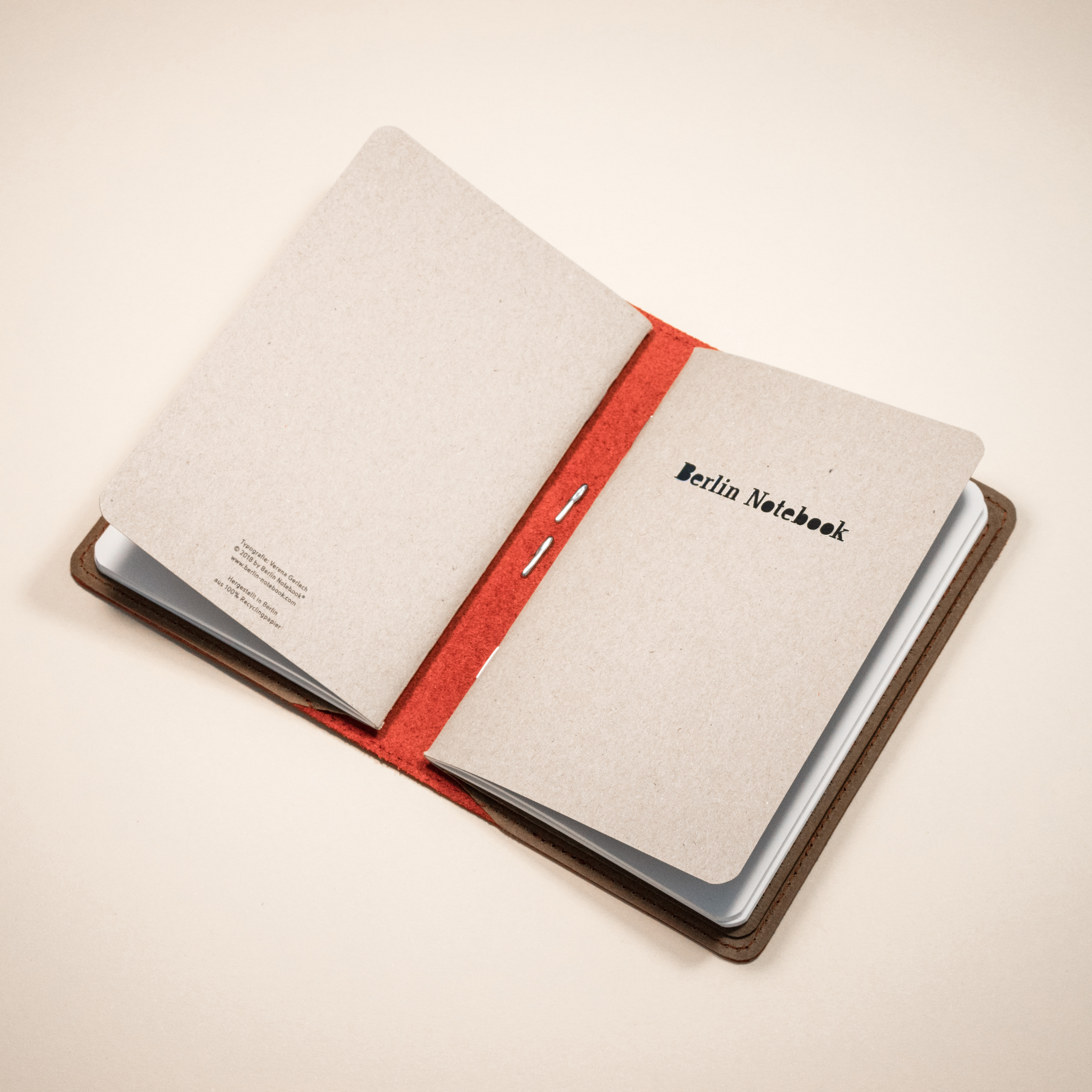 Berlin Notebook Leather Notebook Cover  - Olive Green