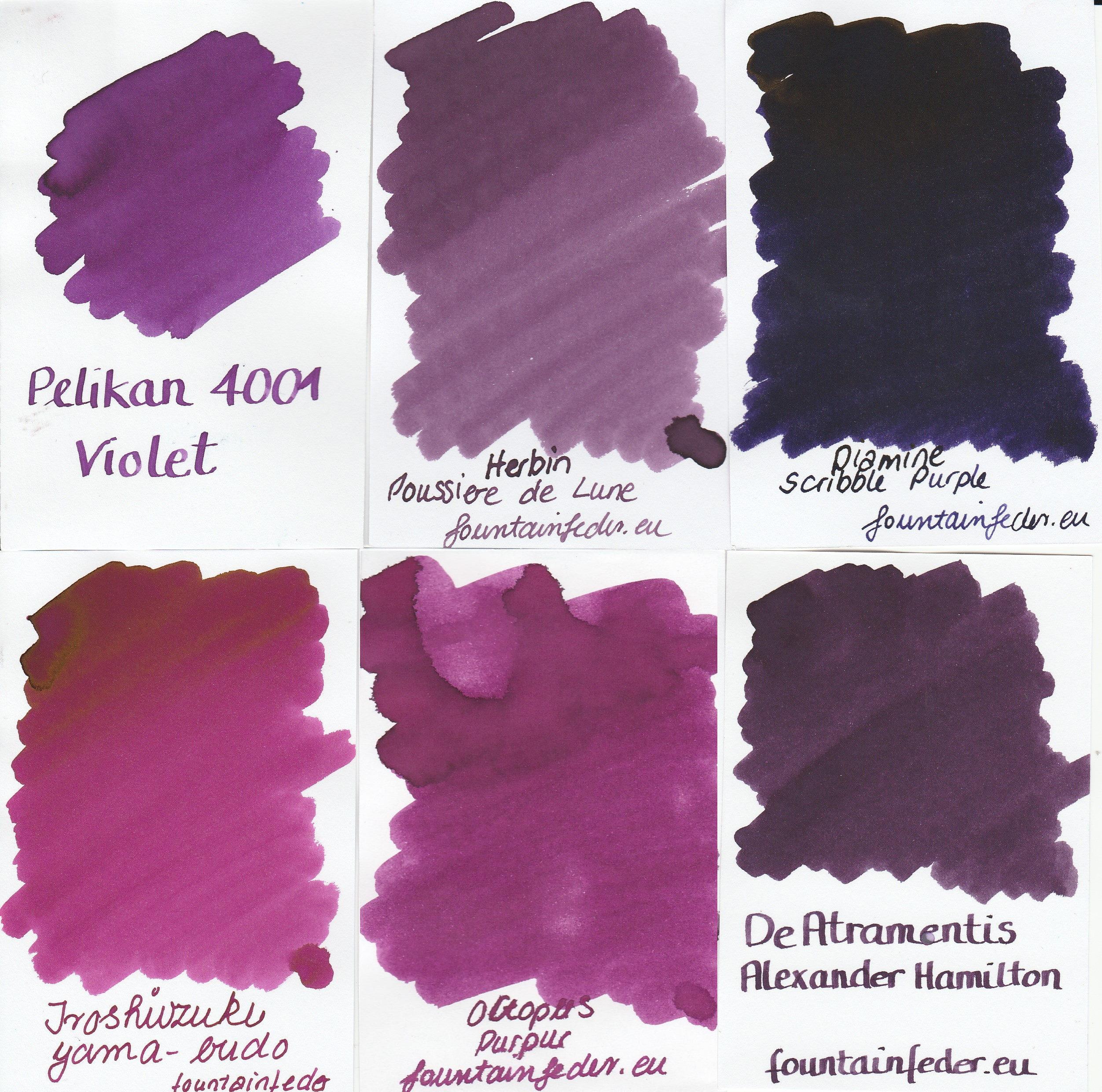Purple Dreaming - Ink Sample Set