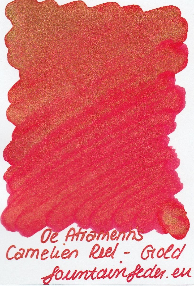 DeAtramentis Carmelie Red - Gold Sample 2ml