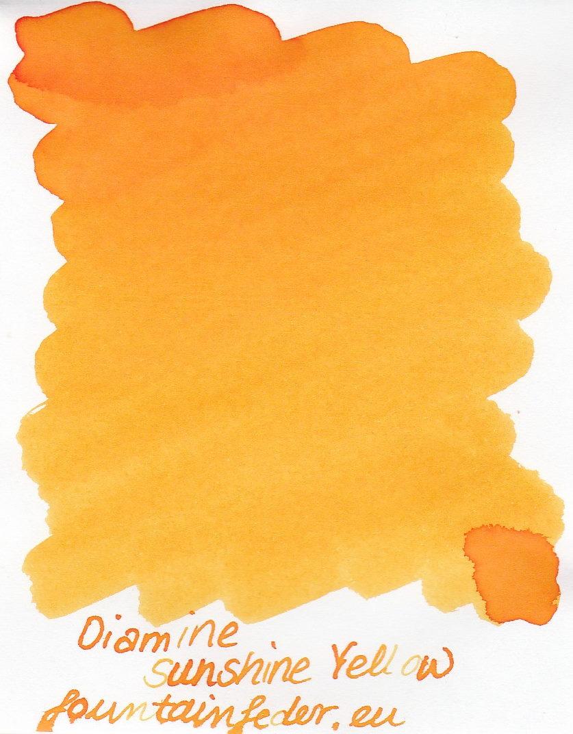 Diamine Sunshine Yellow Ink Sample 2ml