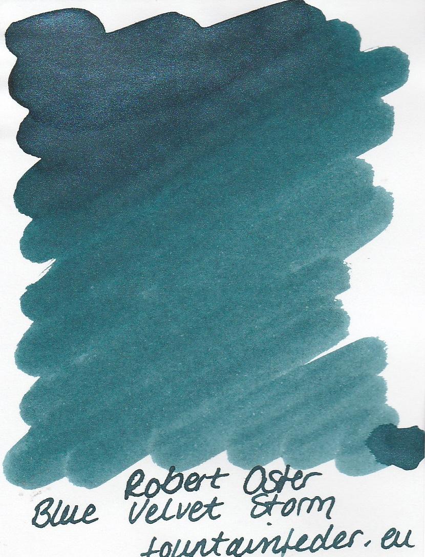 Robert Oster Shake`n`Shimmy - Blue Velvet Storm Ink Sample 2ml