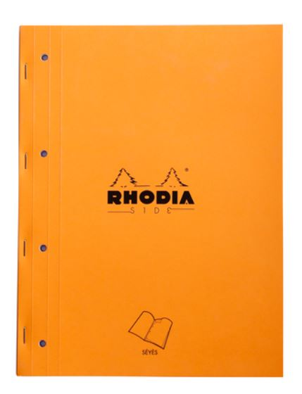 Rhodia A4 Side Pad stapled, Seyes