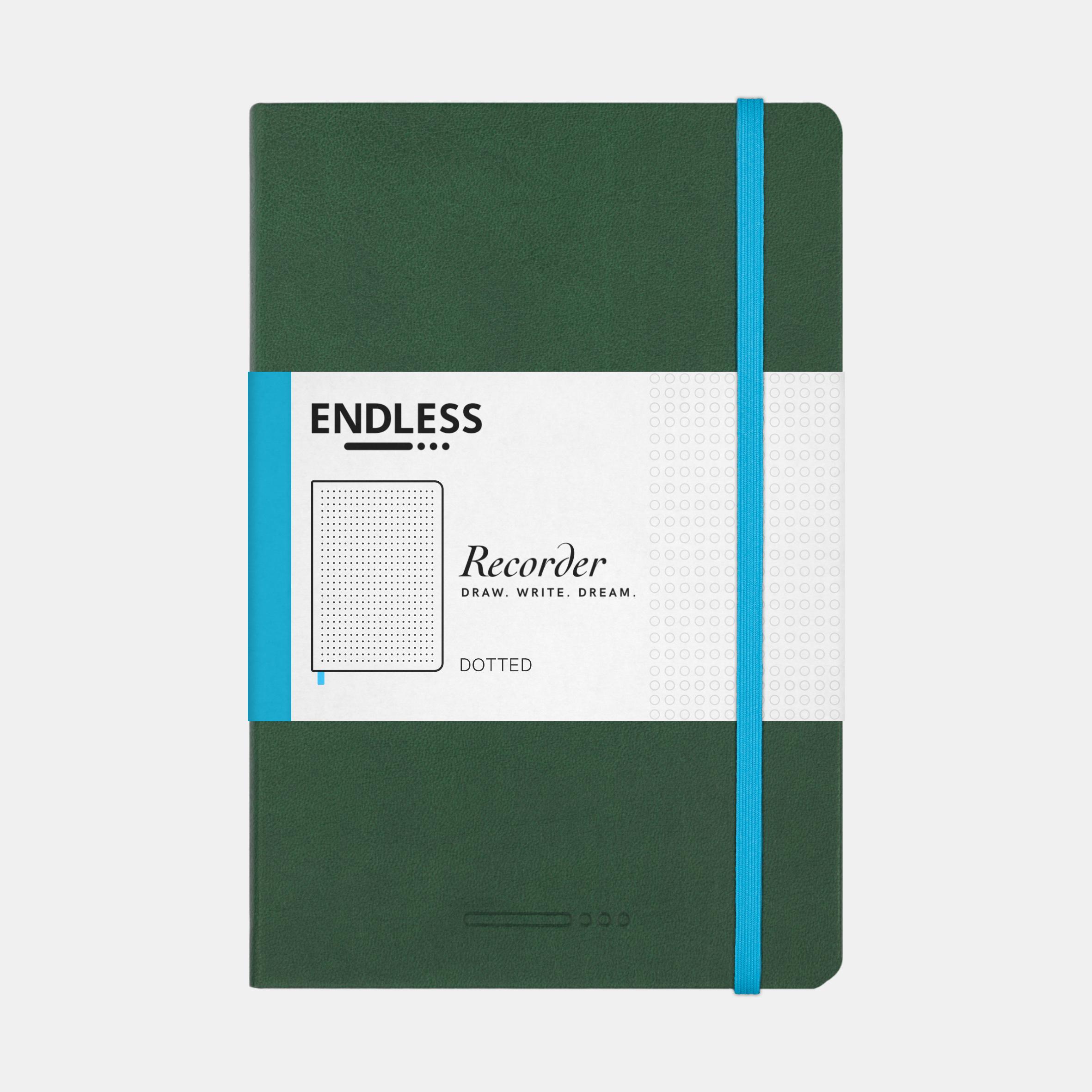 Endless Recorder Notebook Green Dot
