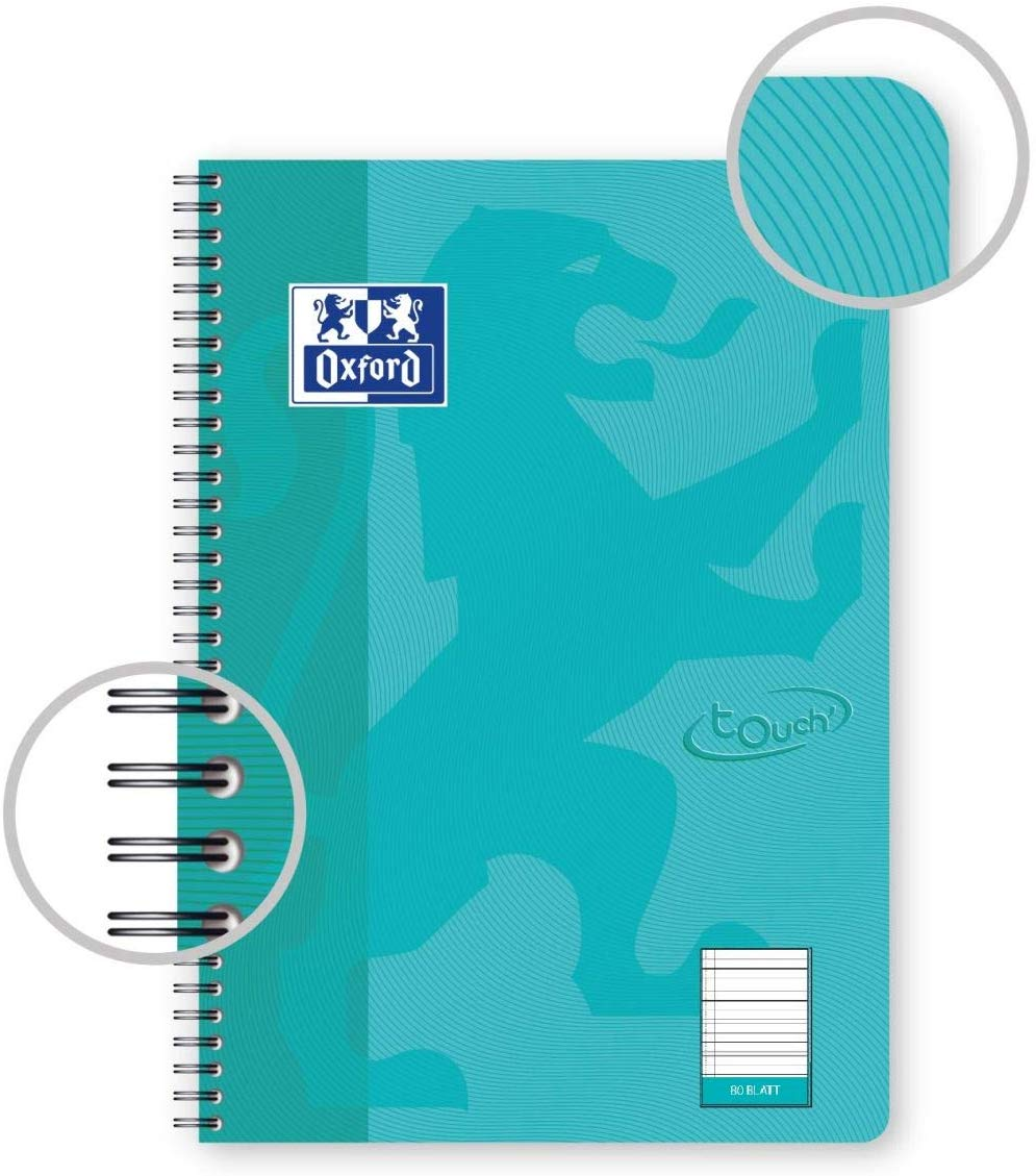 Oxford touch B5 Aqua lined