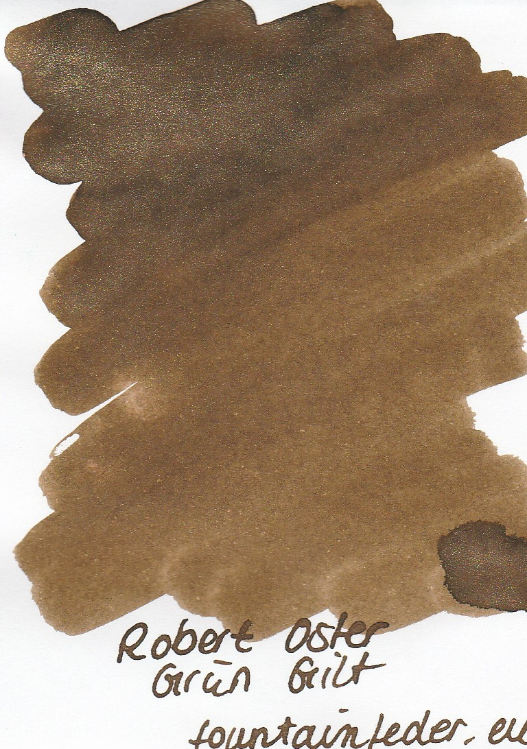 Robert Oster Shake`n`Shimmy - Grün-Gilt Ink Sample 2ml
