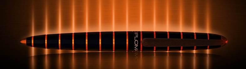 Diplomat Elox Fountain Pen Black / Orange