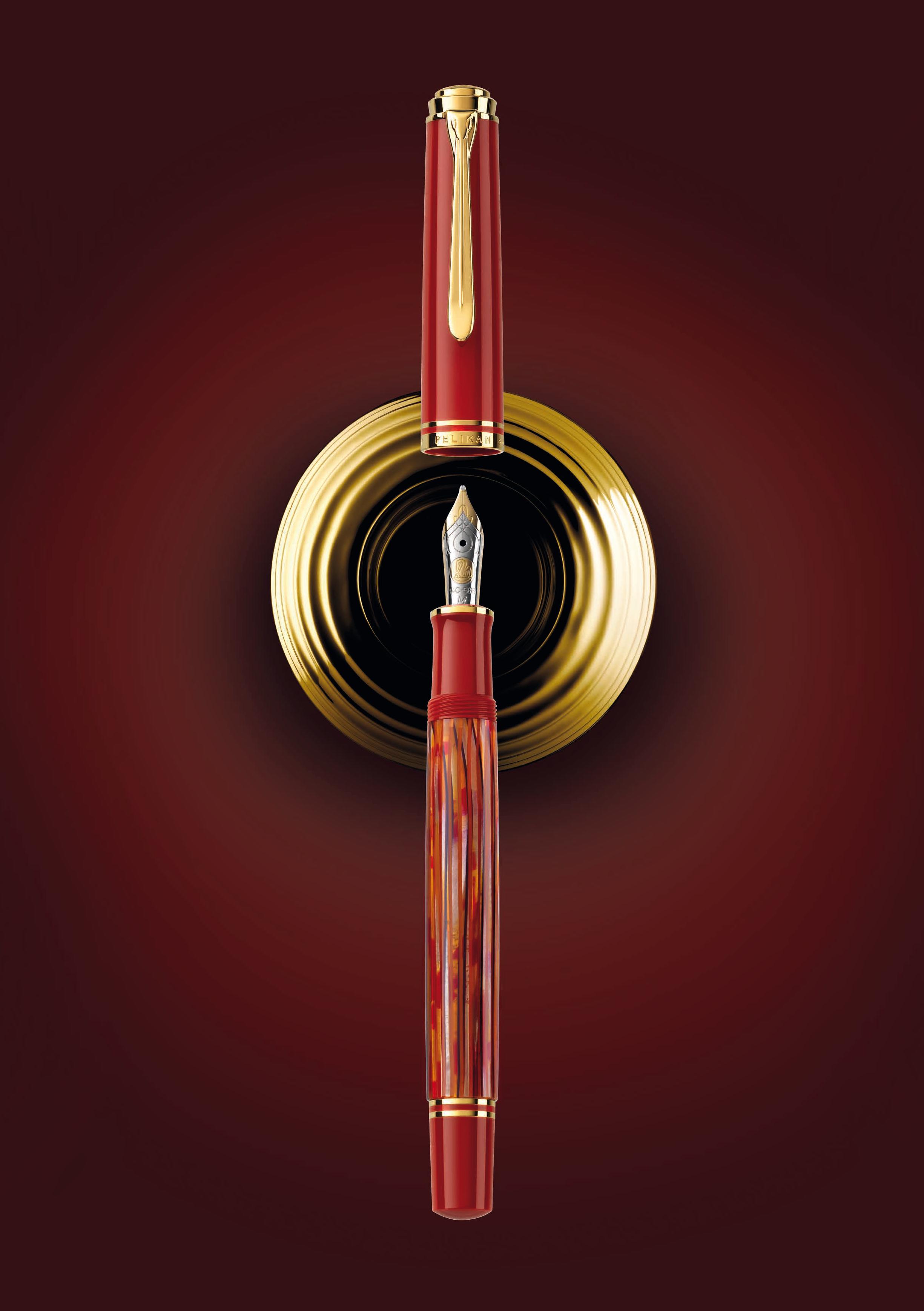 Pelikan M600 Souverän Schildpatt-Rot