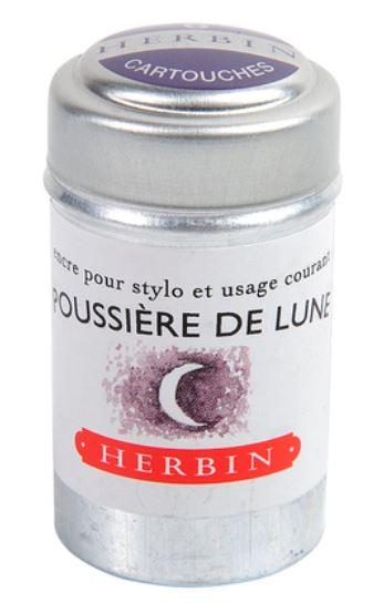Herbin Ink Cartriges Poussiere de Lune , 6 per tin