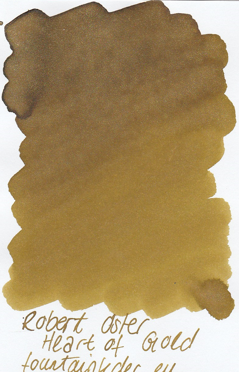 Robert Oster Shake`n`Shimmy - Heart of Gold Ink Sample 2ml