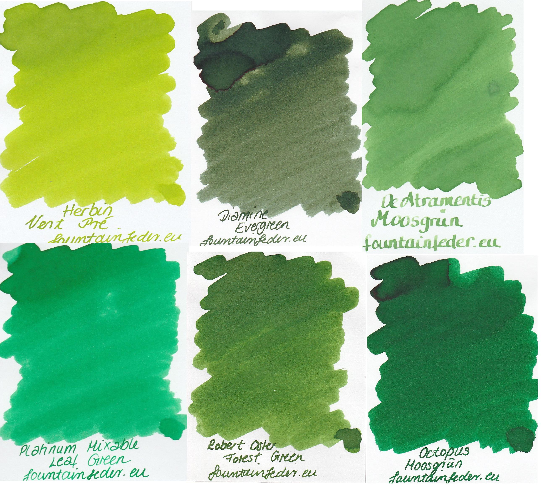 Waldgrün  - Ink sample Set