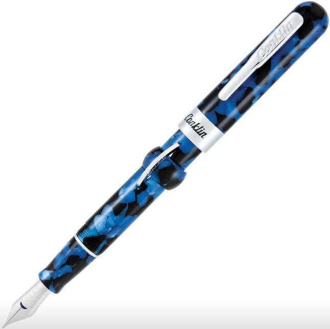 Conklin Mark Twain Crescent Filler Fountain Pen - Vintage Blue