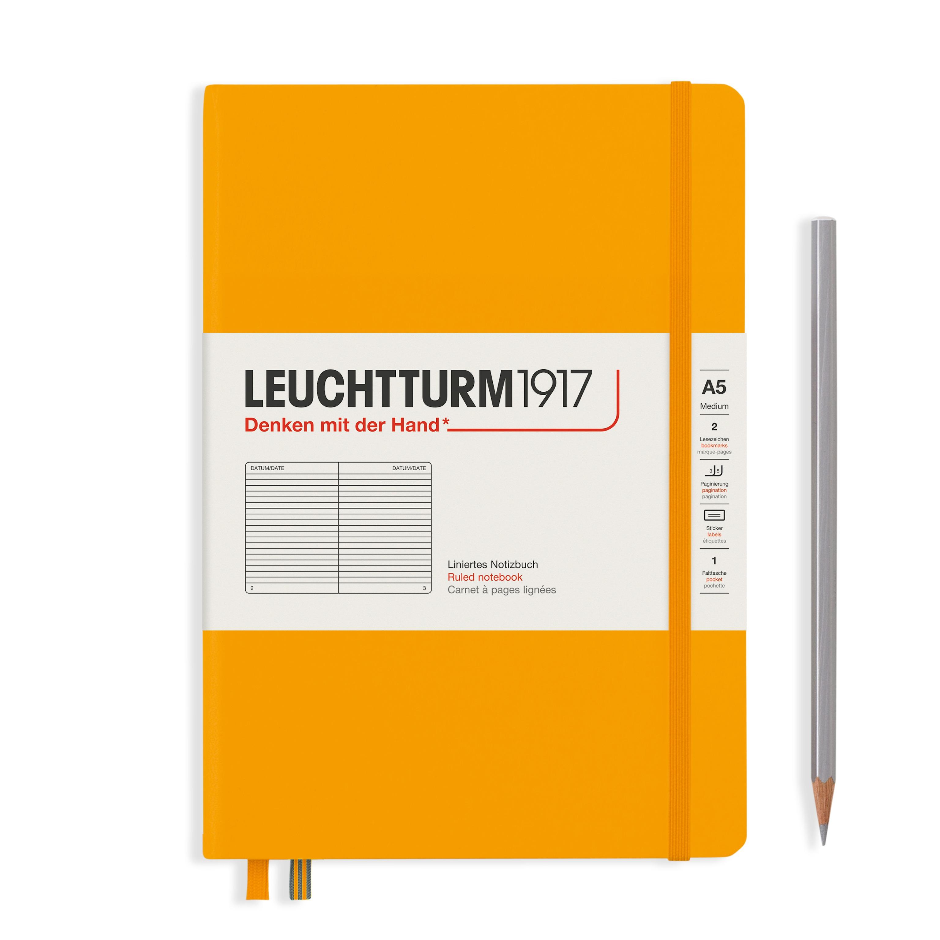 Leuchtturm1917 A5 Hardcover Rising Colours - Rising Sun, Liniert