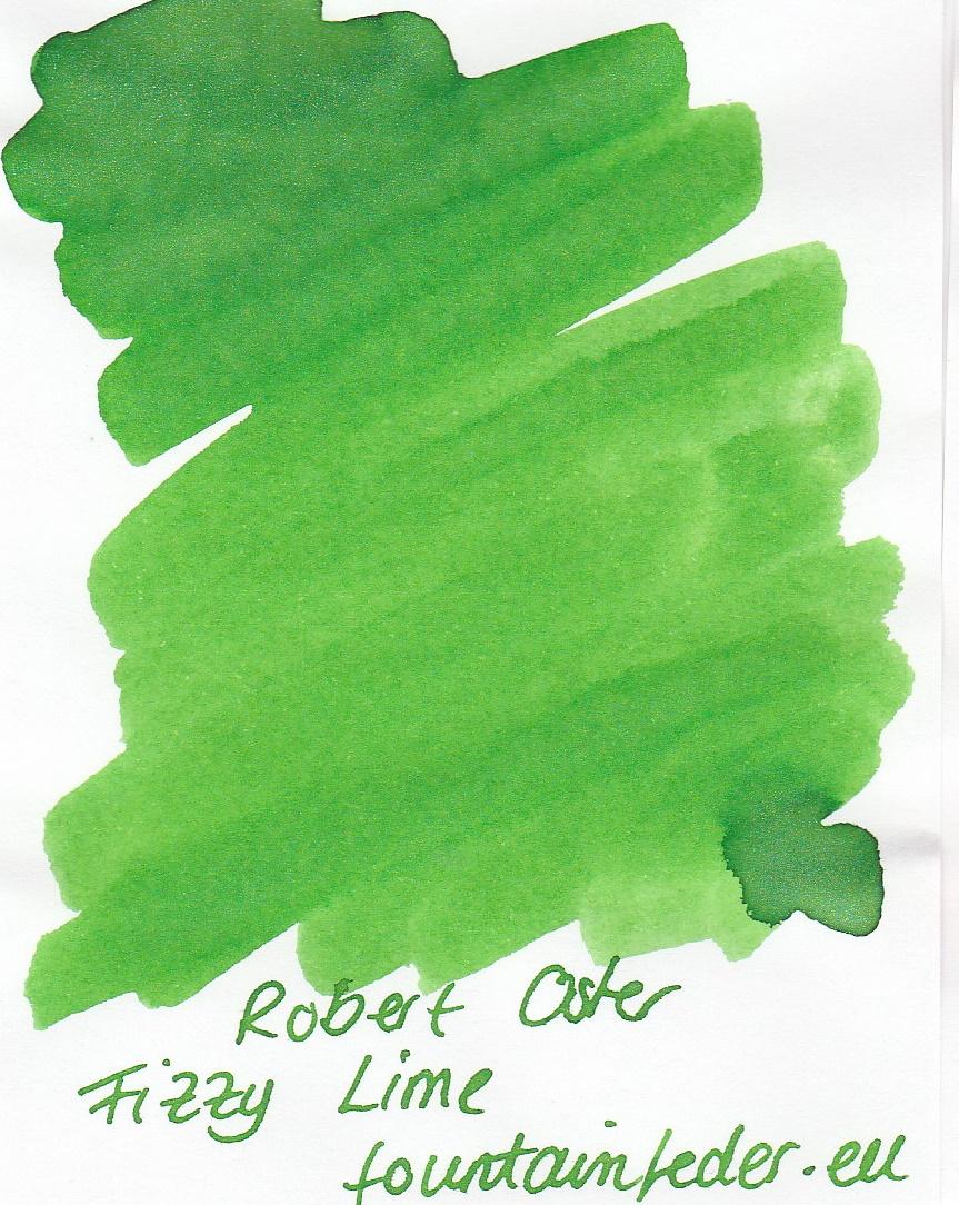 Robert Oster Shake`n`Shimmy - Fizzy Lime Ink Sample 2ml