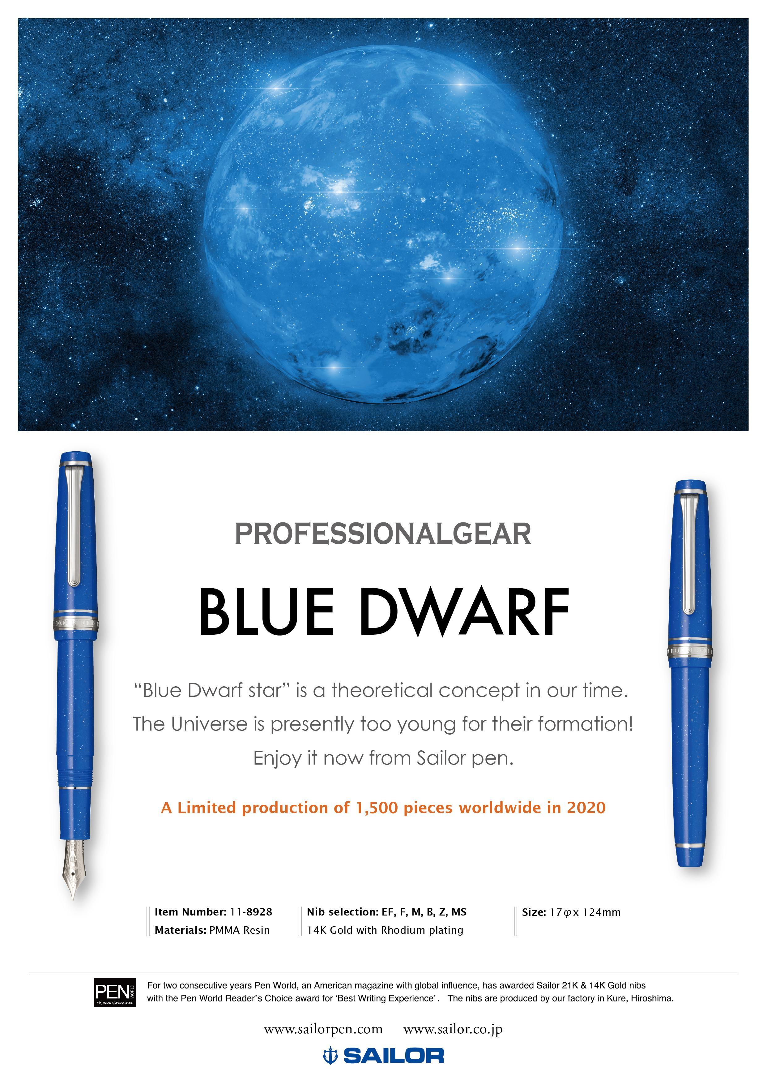 Sailor Professional Gear Slim - Blue Dwarf