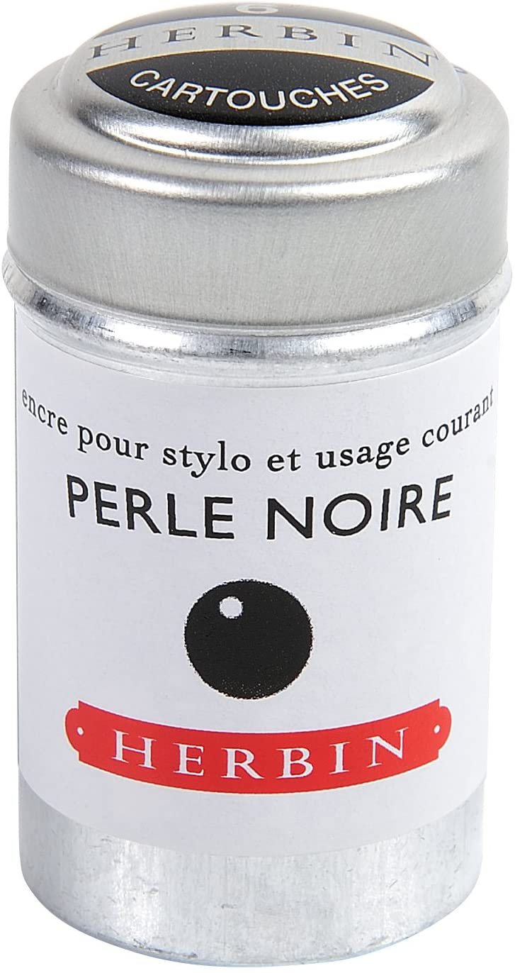 Herbin Ink Cartriges Perle Noire , 6 per tin