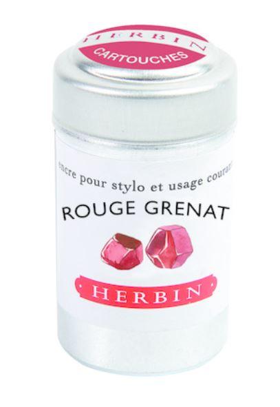 Herbin Ink Cartriges Rouge Grenat , 6 per tin