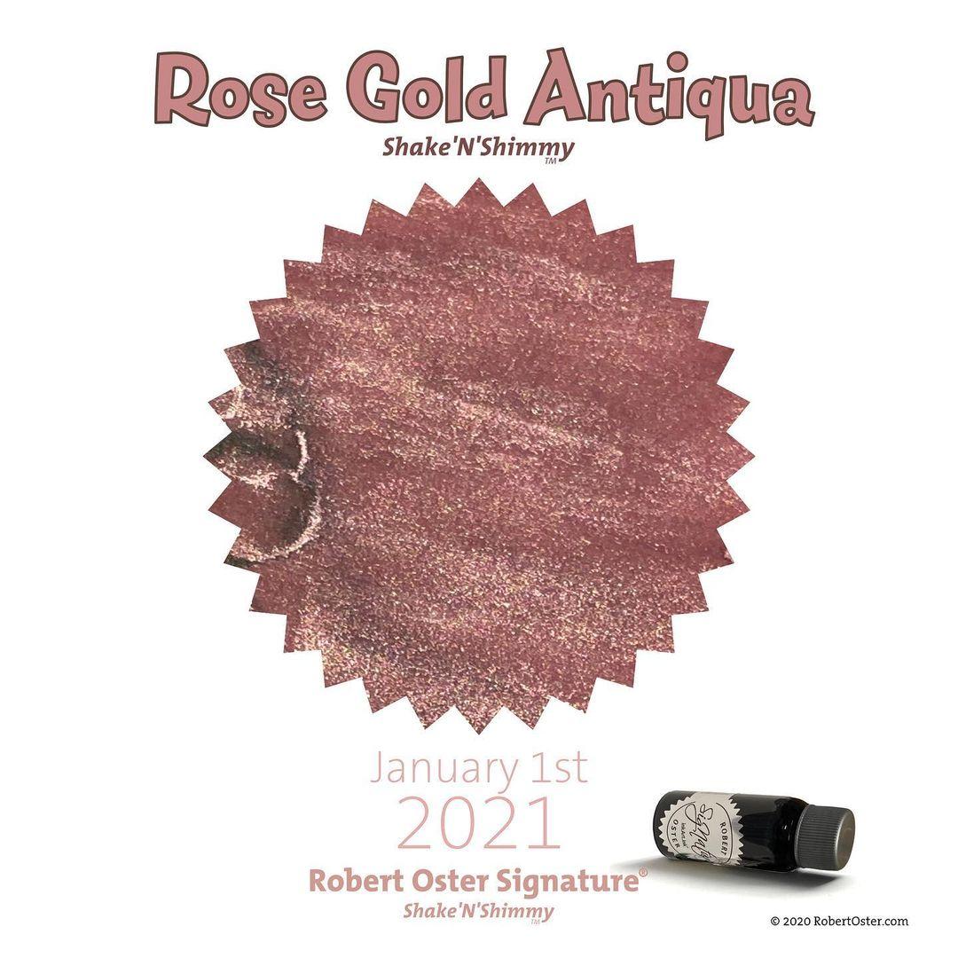 Robert Oster Shake`N`Shimmy - Rose Gold Antiqua  50ml