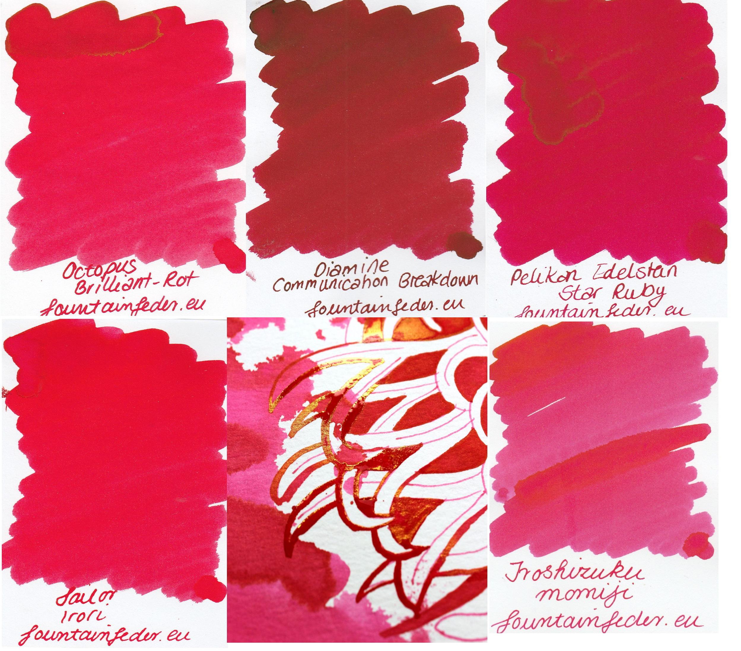 Rote Grütze Ink Sample Set