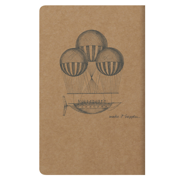 Clairefontaine Flying Spirit - 7.5x12cm Brown