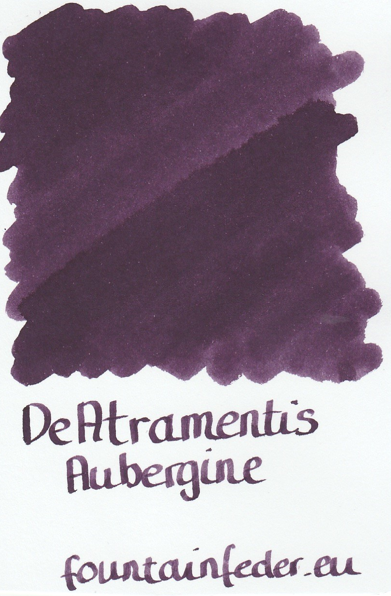 DeAtramentis Aubergine Ink Sample 2ml