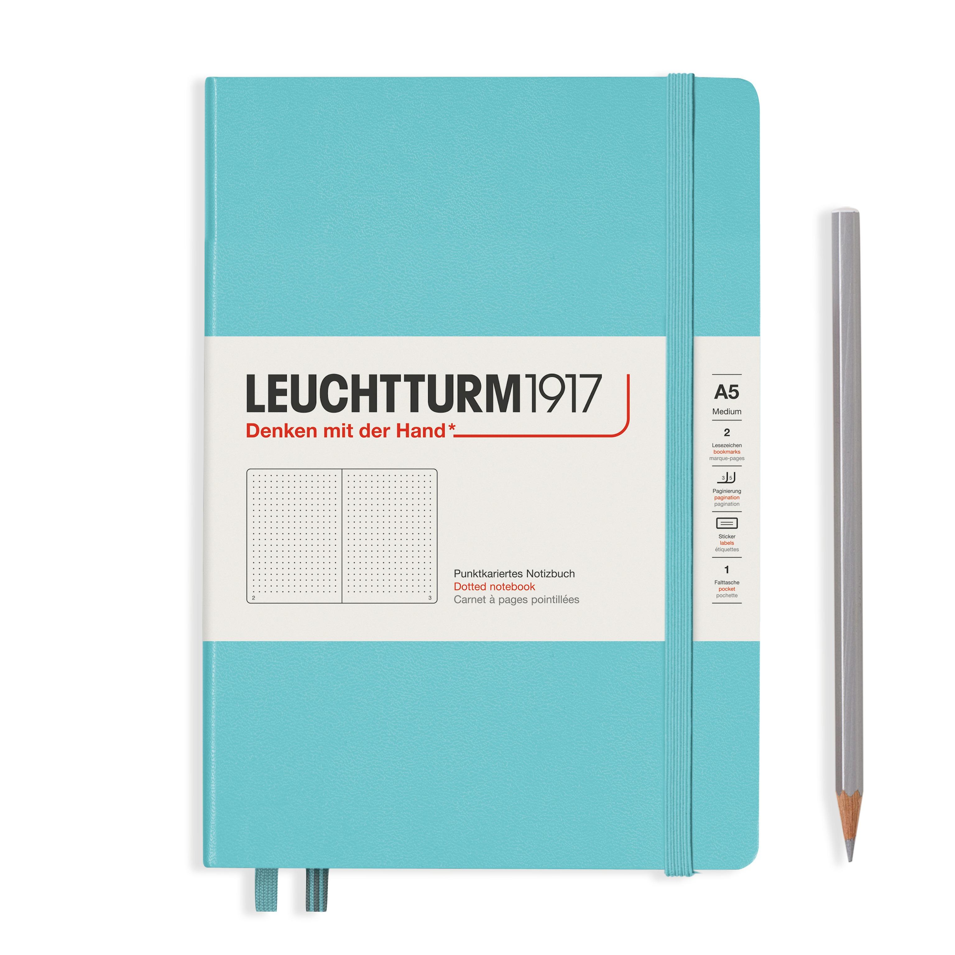 Leuchtturm1917 A5 Hardcover Rising Colours - Aquamarine, Dotted